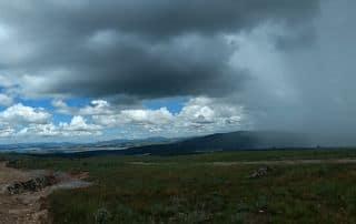 Paisagem Seca e chuvosa